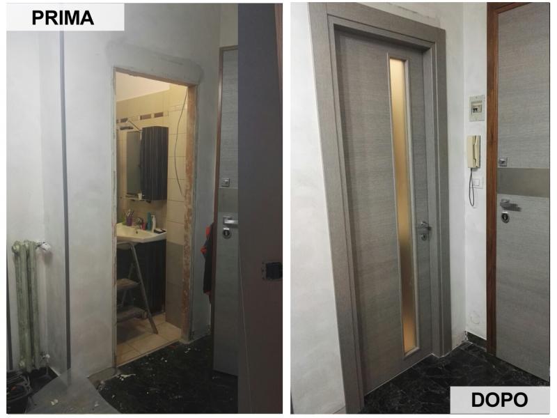 Foto installazione serramenti nichelino torino moncalieri - Montaggio porte interne video ...